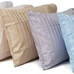Toddler Travel Pillowcase 100% Softest Cotton Sateen Weave 500 Thread Count – Cases for Pillows, for Babies in Crib, Adult Travel in Cars, Airplanes…etc. Kids / Baby Pillow Case Fits a 12″x16″, 13″x18″, or 14″x19″ Pillow – Naturally Hypoallergenic – Machine Washable Pillowcases (Blue Stripe)