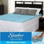 Slumber Solutions Gel Highloft 2-inch Full-size Memory Foam Mattress Topper, Siz Full
