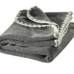 Disana 100% Ogranic Merino Wool Baby Blanket 31.5 x 40 inches Grey Melange