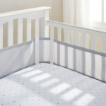 BreathableBaby BreathableMesh Crib Liner – Gray Mist