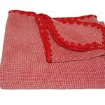 Disana 100% Ogranic Merino Wool Baby Blanket 31.5 x 40 inches Red Melange