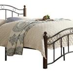 Homelegance 2020FBK-1 Metal Platform Bed, Full, Black and Brown