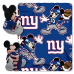 NFL New York Giants Mickey Mouse Pillow with Fleece Throw Blanket Set