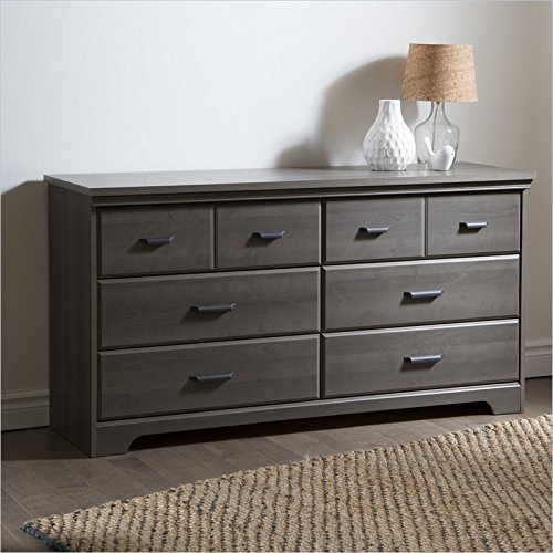 south shore versa 6 drawer double dresser gray maple mattresses bedding online. Black Bedroom Furniture Sets. Home Design Ideas