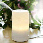 BestFire® Portable 70ml Aromatherapy Essential Oil Aroma Diffuser Ultrasonic Air Humidifier with 4 Timer Settings Warm White Light Lamp with Anti-dry Protection Suitable for Home Yoga Office SPA Bedroom Car etc. (Warm White)