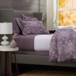 Pinzon Lightweight Cotton Flannel Duvet Cover – Full/Queen, Floral Lavender