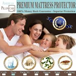 Waterproof Mattress Protector – Hypoallergenic Dust Mite, Bacteria, Allergy Control. Bed Bug Protection Barrier – 100% Satisfaction Guaranteed! (Twin Size 39″x75″)