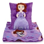 Disney Sofia the First Cuddly Snuggle Pillow and Fleece Blanket – 2 Piece Travel Set