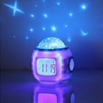 SOUESA® Children Room Romantic Sky Star Night Light Projector Lamp Bedroom Alarm Clock with Sleeping Music