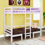 Coaster Fine Furniture 460273 Convertible Loft Bed, Twin, White Finish