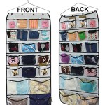 Misslo® Hanging Closet Jewelry Dual-sided Organizers Bra Underwear Socks Ties Storage 42 Pockets