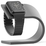Apple Watch Stand [Nightstand Mode Compatible] Aluminum Charging Dock (Space Gray) – Madsen Outlet