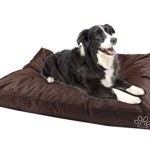 PetsEden® Zipper Cover for Dog Pet Bed Mat Cushion Large Dog Bed Cover Replacement Do It Yourself, 36″x29″ Brown Color-oxford