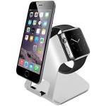 Apple Watch Stand, [2-in-1 New Version] Amir® Charging Stand Holder for Apple Watch & iPhone – Aluminum Made – For all iWatch & iPhone(iPhone 5/ 5S/ 6/ 6 Plus, iWatch BASIC / SPORT / EDITION Model)