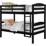Solid Wood Twin Bunk Bed – Twin Over Twin in Black By Mainstays. Perfect Furniture for Girls or Boys Bedroom