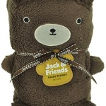 Jack and Friends Cuddly Animal Baby and Kids Brown Bear Blanket