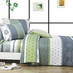 Serene 3pc 100% Cotton Duvet Cover Set : Duvet Cover and Two Matching Shams (King)