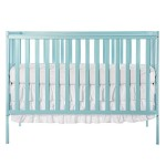 Dream On Me Synergy 5-in-1 Convertible Crib, Aqua Sky, 35 Pound