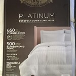 Pacific Coast Platinum European Down Comforter – Year Round Comfort (Full/Queen)