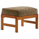 Night and Day Furniture Home Decorative Standard Chair Ottoman in Honey oak Finish