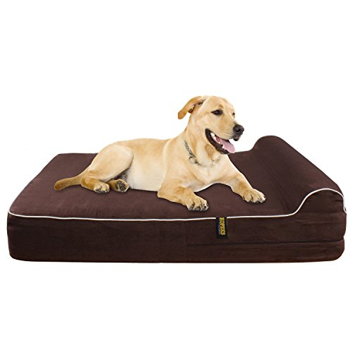 Extra Large 7 Orthopedic Memory Foam Dog Bed With 3