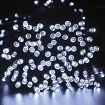lederTEK Solar Christmas Lights 72ft 22m 200 LED 8 Modes Solar Fairy String Lights for Outdoor, Gardens, Homes, Wedding, Christmas Party, holiday lights
