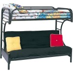 Eclipse Twin Over Full Futon Bunk Bed, Multiple Colors