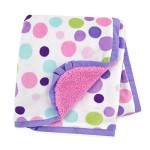 Carter's Plush Valboa with Microplush Blanket, Dots/Pink/Purple/White