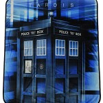 Doctor Who Prism Tardis Velveteen Throw Blanket 50″ x 60″