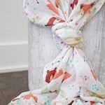 100% Organic Muslin Swaddle Blanket by ADDISON BELLE – Oversized 47 inches x 47 inches – Best Baby Shower Gift – Premium Receiving Blanket (Fox & Bear Print)