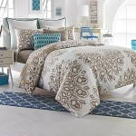 250TC 100% Cotton Studio 3B Reversible Duvet Cover Set (Full/Queen, Cyndi)