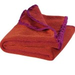 Disana 100% Ogranic Merino Wool Baby Blanket 31.5 x 40 inches Berry Melange