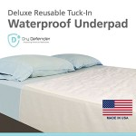Dry Defender Washable Waterproof Mattress Sheet Protector Bed Pads (34 x 36 in Tuck-In)