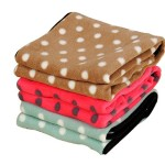 Color you® Pet Puppy Dog Cat Blanket Mat Pad Bed Design For Car, Lap, Sofa, Pet Bed, Crate, Kennel and Carrier (M, Brown)