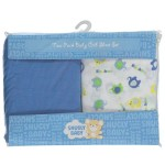 Snugly Baby Elephant Blue Crib Sheets 2-Pack