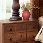 Timberline Night Stand In A Warm Brown Finish