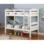 WE Furniture Twin over Twin Solid Wood Bunk Bed, White