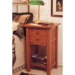 Arts and Crafts End Table/Nightstand Mission Style: Downloadable Woodworking Plan