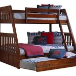 Discovery World Furniture Twin over Full Bunk Bed with Twin Trundle, Merlot