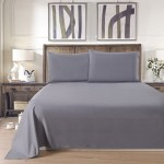 Lullabi Linen 100% Brushed Soft Microfiber Bed Sheet Set, Fitted & Flat Sheet & Pillowcases, Cozy Comfortable, Wrinkle, Fade, Stain Resistant, Deep Pockets (Gray, Full)