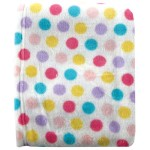 Luvable Friends Dot Print Coral Fleece Blanket, Pink