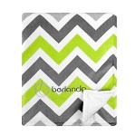 berlando – Signature Edition – Chevron Baby Blanket , Green and Gray, 100% Polyester, #1 Ranked in Minky Valour Baby Blankets, Best Unisex Blanket for Baby Boys and Baby Girls,