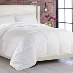 Linen Home Down Alternative Comforter Duvet Insert, Queen, White
