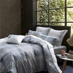 UFO Home Printed Duvet Cover Set, 250 Thread Count, 100% Cotton Sateen, Inside Ties, Comfortable, Soft Durable, 3pc Bedding Set, Grey Plaid, Full Queen Size(Queen, Grey Plaid)