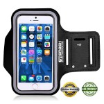 Smash Terminator® Adjustable Neoprene Sports Running Jogging Gym Armband Arm Band Case Cover Holder For Apple iPhone 6 5 5S 5C 4S 4 with Key Holder As Seen in Runners World Magazine by AllThingsAccessory® (Black, iPhone 5)