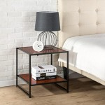 Zinus Modern Studio Collection 20 Inch Square Side/ End Table/ Night Stand/ Coffee Table