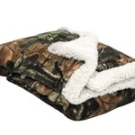 Baby Infant Camo Accent Soft Sherpa and Plushed Lined Coral Fleece Gift Blanket (Sand)