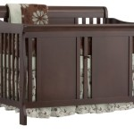 Stork Craft Verona 4-in-1 Fixed Side Convertible Crib, Espresso