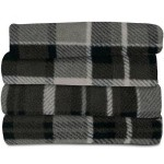 Sunbeam Heated Throw Blanket Fleece or Imperial Plush Electric Assorted Colors (Plaid Allister Kingly Black/Gray, Extra Soft/3 Heat Settings/Fleece Throw)
