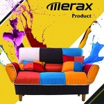 Merax Young Series Sofa Futon Sofa Loveseat Sleeper Modern Contemporary Upholstered Quality Sofa with Two Pillows, Cotton Linen Fabric